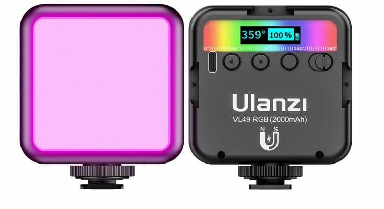 ULANZI VL49 Video Licht mit 2000 mAh Akku